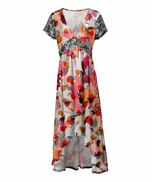 Платье Hi-Low с цветочным принтом и завышенной талией, Lily