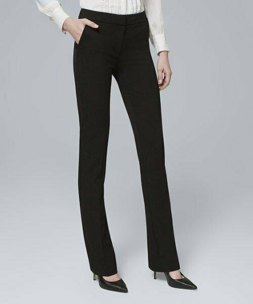 Черные всесезонные узкие брюки, White House Black Market