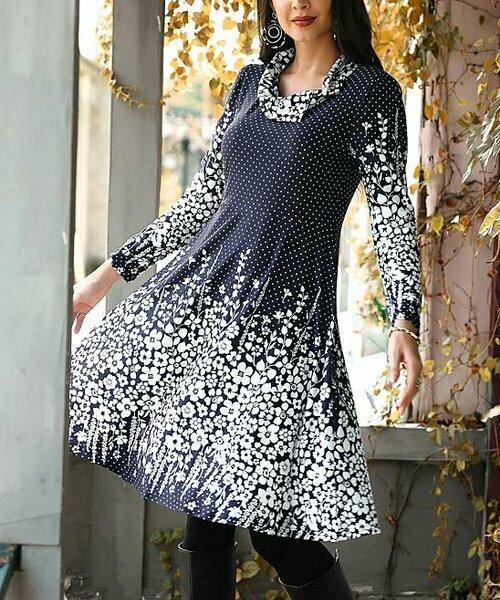 Платье с цветочным принтом в горошек, Reborn Collection