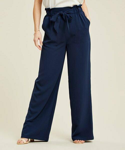 Темно-синие брюки с завязками спереди, Suzanne Betro