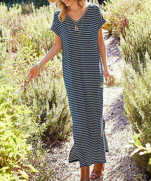Макси-платье Sail в сине-белую полоску, Matilda Jane Clothing
