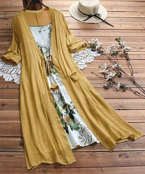 Белое платье-миди с цветочным принтом, CELLABIE