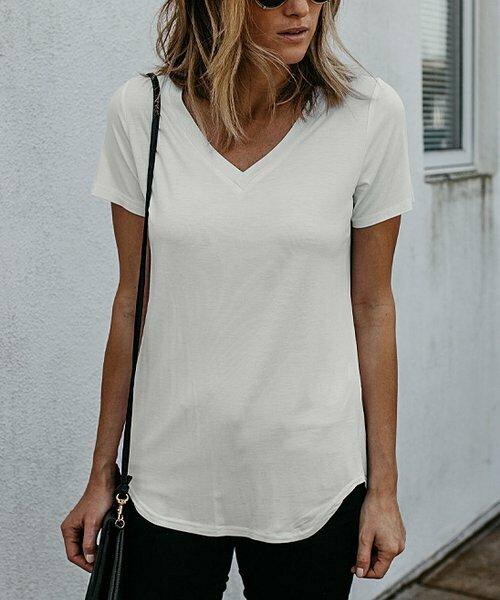 Amaryllis, Белая полупрозрачная свободная футболка с завышенной талией