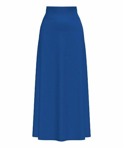 Bella Floré, Длинная юбка с высокой талией синего цвета