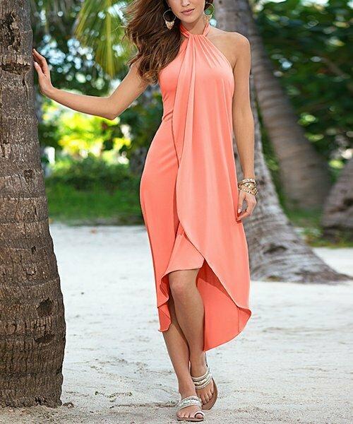 Venus, Платье макси Coral Halter Hi-Low