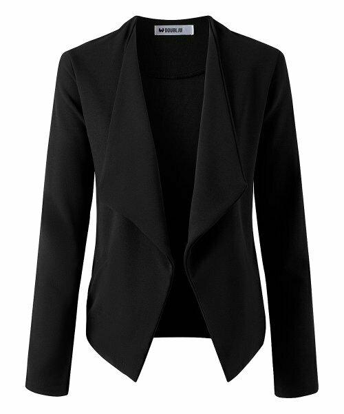 Doublju, пиджак с черным карманом и открытой передней частью - Для женщин