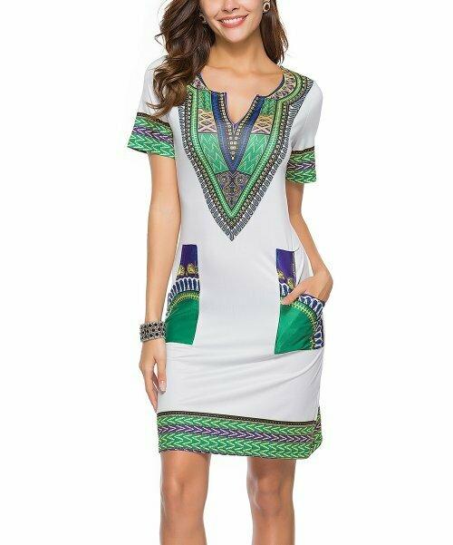 Sucrefas, Серое платье с круглым вырезом и геометрическим карманом