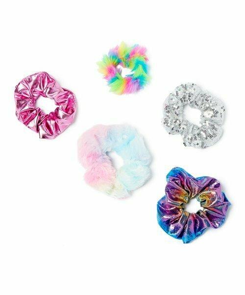 Picki Nicki, резинка для волос Rainbow Fuzzy - набор из пяти штук
