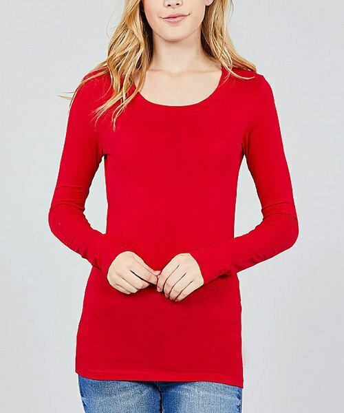 SBS Fashion, Яркая красная футболка с длинным рукавом