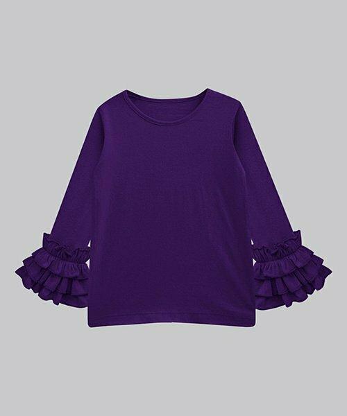 A.T.U.N., фиолетовая туника Трейси с рюшами на рукавах