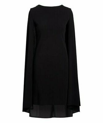 Bella Floré, Черное платье прямого кроя с рукавами-накидкой