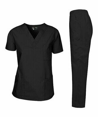 Pandamed, Черный топ и брюки для медицинских работников