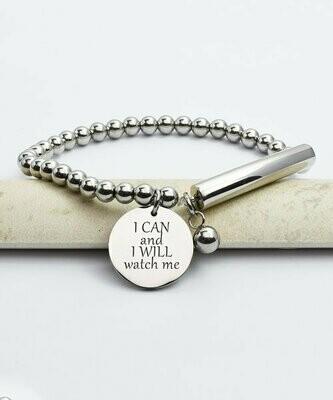 Pink Box, браслет с подвеской 'I Can & I Will'