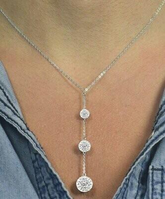 Серебряное колье с кристаллами Swarovski®, Golden Moon