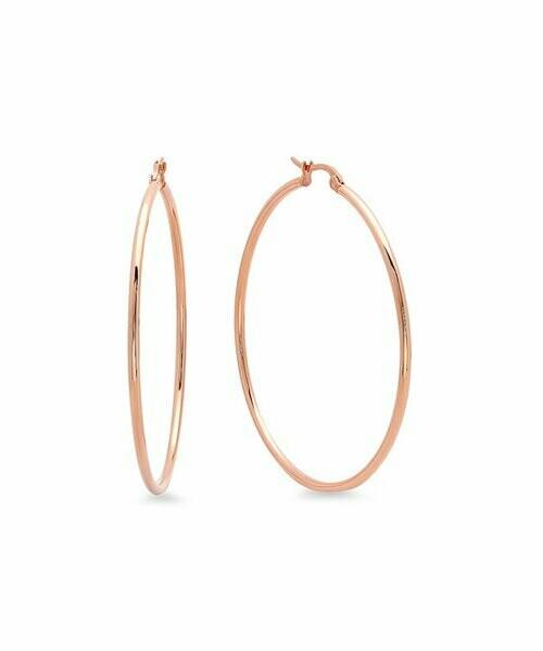 Steel Time, Серьги-кольца с покрытием из 18-каратного розового золота