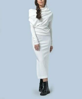 Миди-платье Milky с воротником-хомутом, Agata Weber