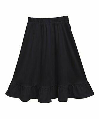 Emma & Elsa, Черная юбка-трапеция с рюшами на подоле