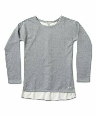 Silver Jeans Co., Серый хизер-топ Hi-Low