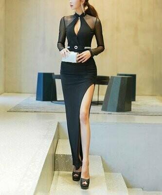 Черное вечернее платье в пол, Vicky and Lucas