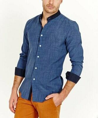Синяя рубашка из органического хлопка, St. Lynn