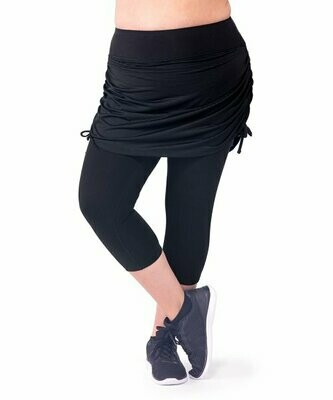 Rainbeau Curves, Черные леггинсы-капри с юбкой Cassandra