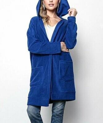 Открытый кардиган с капюшоном и карманом Royal Blue, Milly Penzance