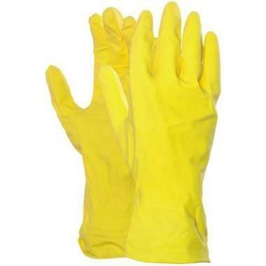 Latex Huishoud handschoen (4 maten)