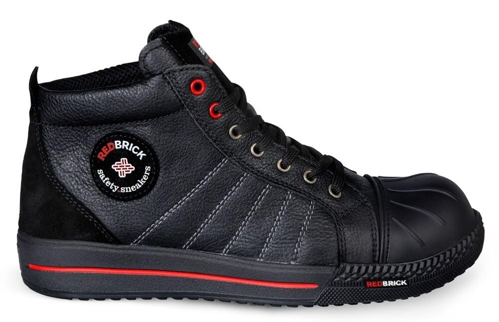 Werkschoen S3 RedBrick Onyx Hoog Zwart (6 maten)