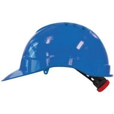 Veiligheidshelm M-SAFE Blauw met Draaiknop