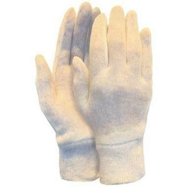 Interlock Werkhandschoen Katoen met Manchet (per 12 paar)