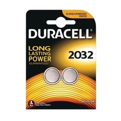2032 Duracell 3V Knoopcel Batterij (2 stuks)