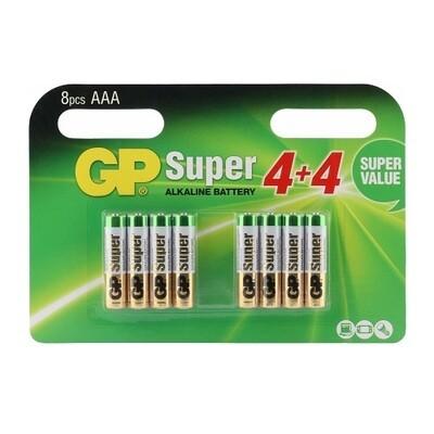 AAA GP Super Batterijen - 8 stuks
