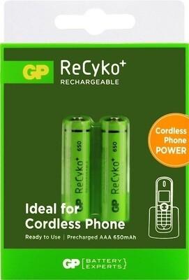 AAA GP ReCyko+ Oplaadbare Batterijen Telefoon 650mAh - 2 stuks