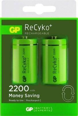 C-cell GP ReCyko+ Oplaadbare Batterijen 2200mAh - 2 stuks
