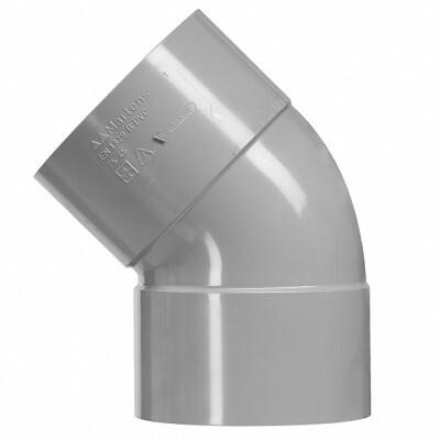 PVC Bocht 45 graden 2xLM (8 producten)