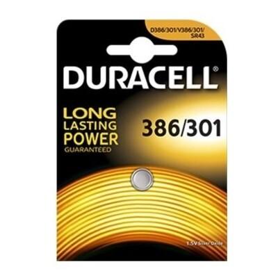 DURACELL KNOOPCEL 386/301/SR43 SILVER 1,5V
