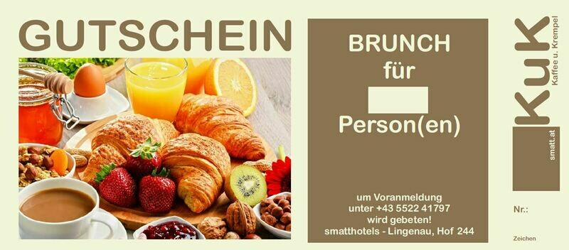 Brunch - Gutschein 1 Person