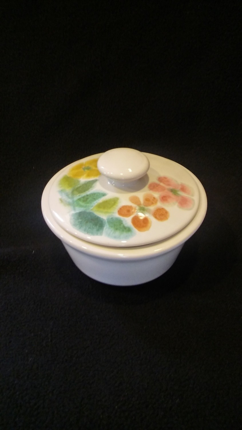 Franciscan Earthenware, Floral Pattern, Sugar Bowl With Lid