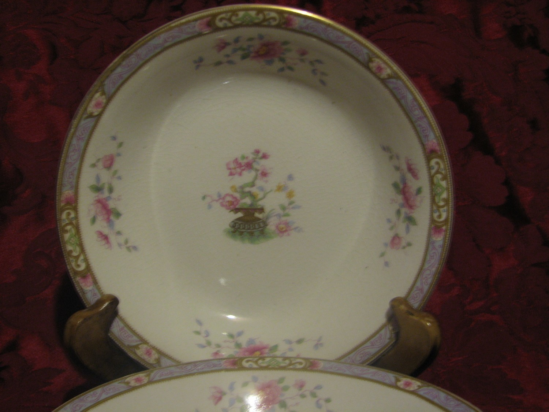 "J & G  Meakin, Soup /Salad Bowl, 7.5"" Rose Floral Design, Bonsai Tree W/Vase"