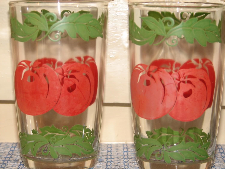Federal Tomato Juice Glass 5 oz, With Vine Design