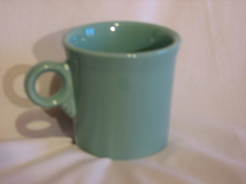 Fiestaware by Homer Laughlin COFFE CUP TUMBLER-RING MUG Vintage Green