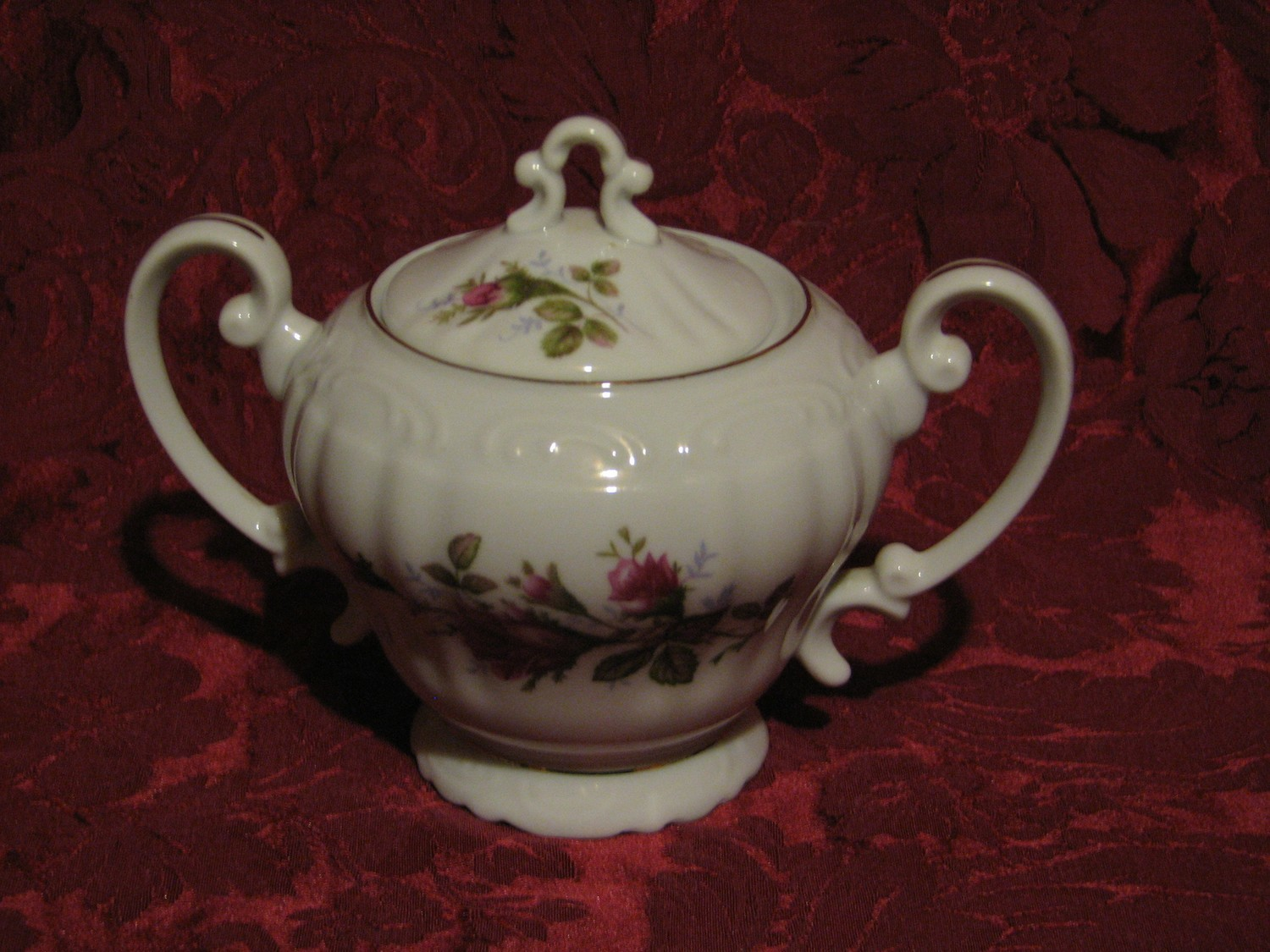 Fine China of Japan, Royal Rose, Sugar Bowl W/Lid