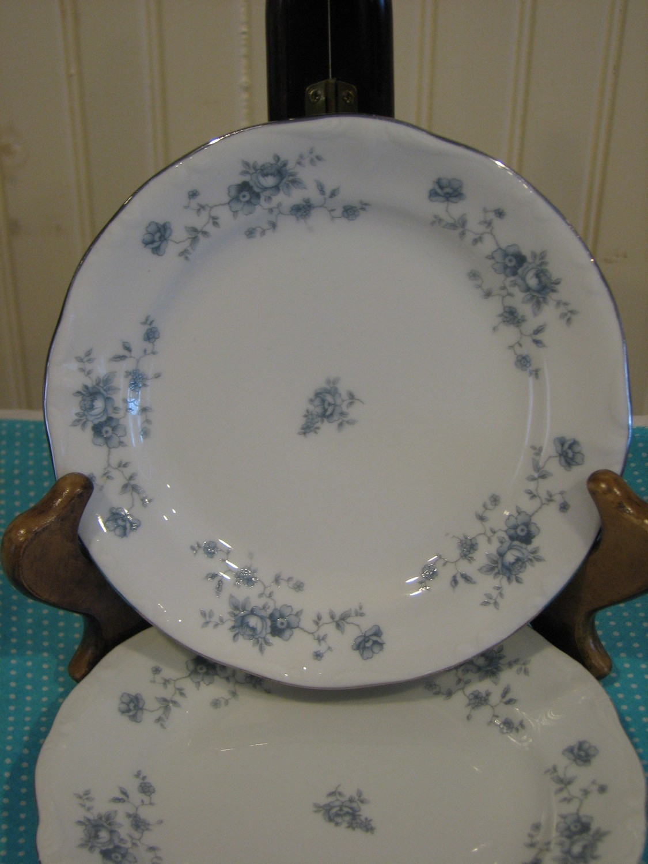 Johann Haviland Bavaria, Blue Garland Bread & Butter Dish