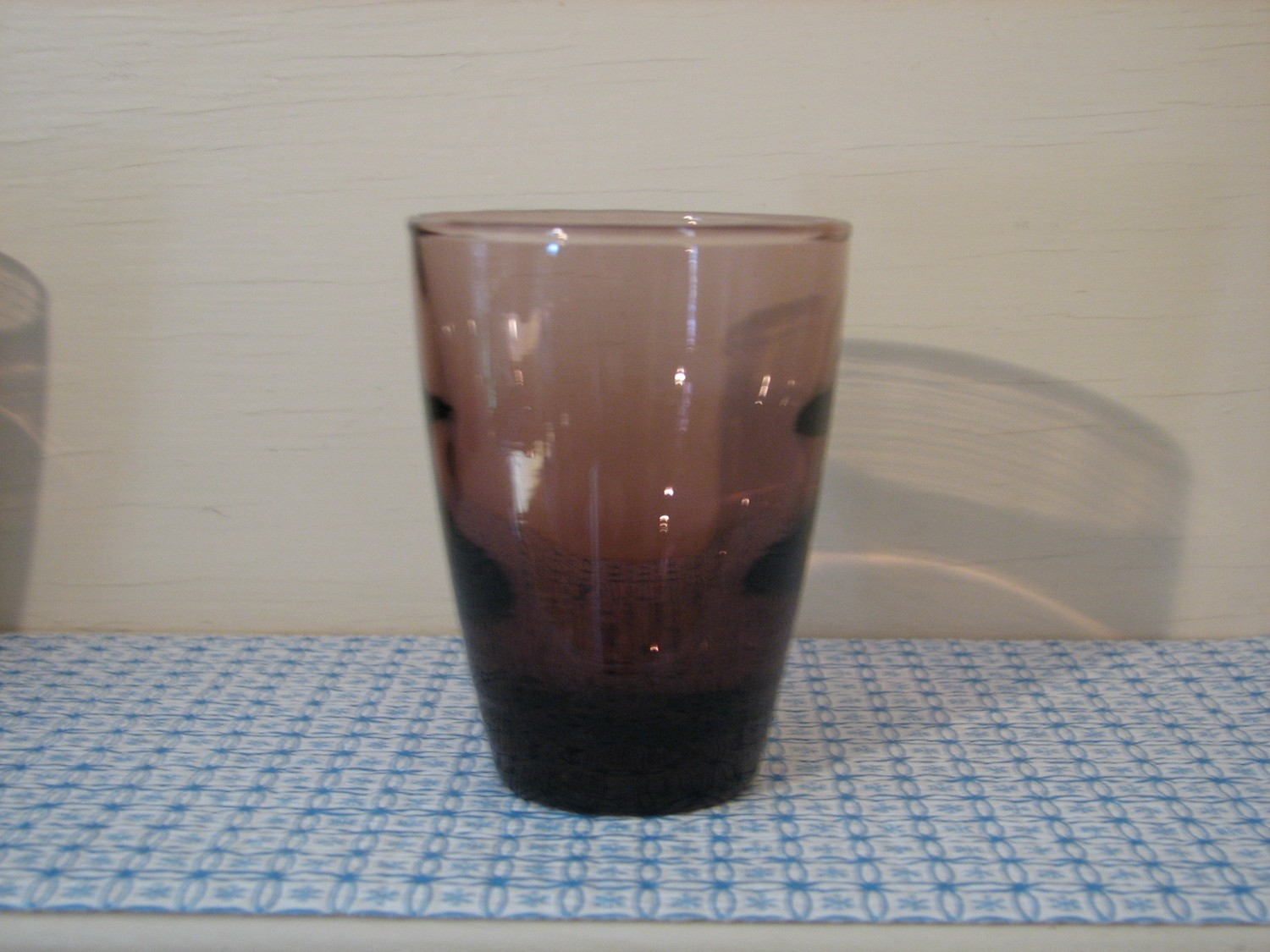 Libbey Amethyst Purple Juice Glass Tumbler Ripple Saturn Optic Ring