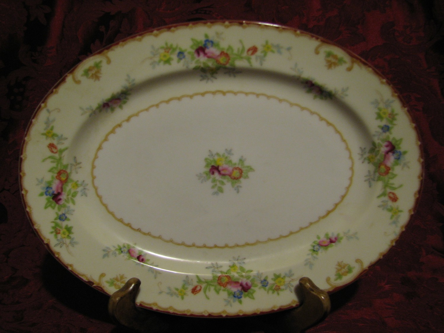 """STS of Japan Vintage 12"""" Serving Platter, Made by, Hand Painted"""