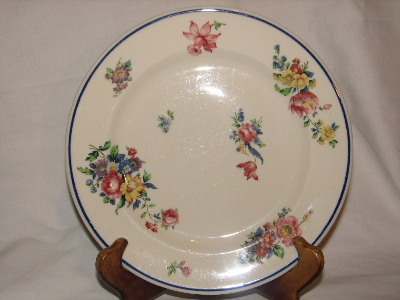 "Syracuse China, Old Glory Salad Plate 8 7/8"" Diameter #38"
