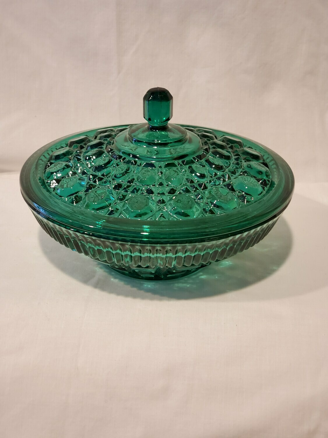​Windsor Teal, Indiana Glass, Candy Dish