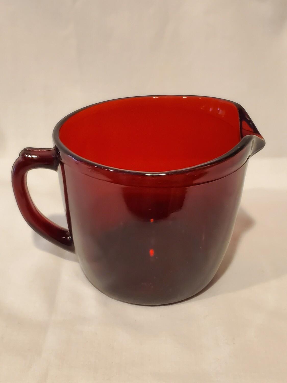 Anchor Hocking Royal Ruby Red Creamer, Plain Pattern
