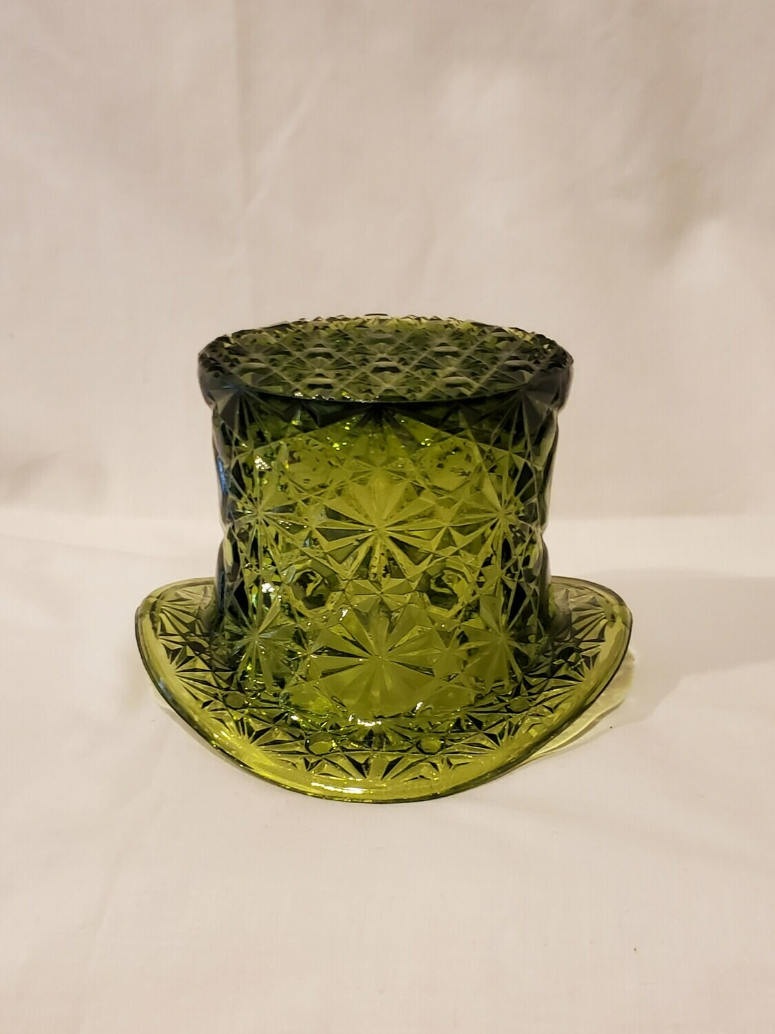 Topper Top Hat, Daisy and Button Green by Smith Glass