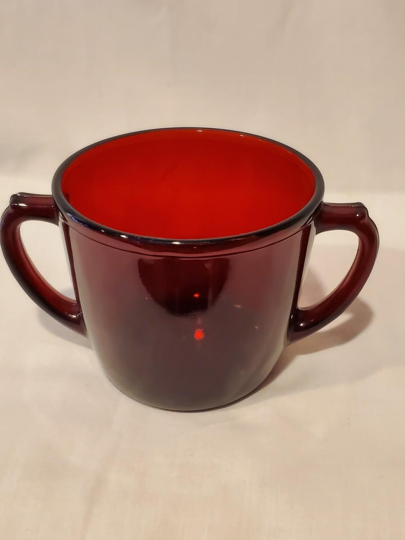 Anchor Hocking Royal Ruby Red Sugar, Plain Pattern